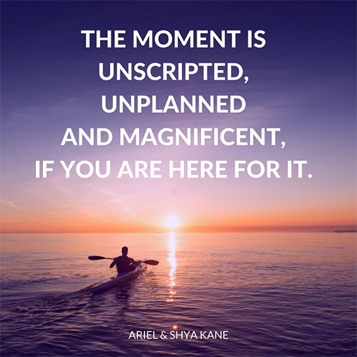 The moment is ...